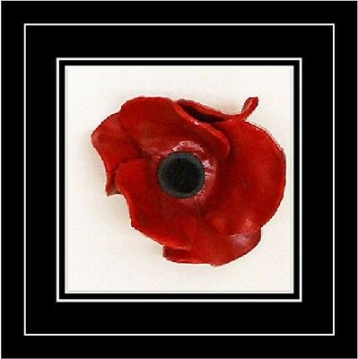One Poppy Frame | Display Tower Of London Poppies In 3D Box Frame 8  X 8  Inches • 30£