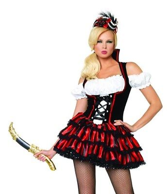 Shipwreck Pirate Costume, Leg Avenue 8-18, Wench, Bucanneer Captain, Towie Style • 14.99£