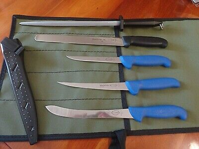 AU184.50 • Buy F Dick 6 Pc Super Fishing Knife Package With Scabbard Germany Aussie Canvas Roll