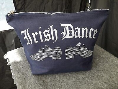 $16.41 • Buy IRISH DANCE Heavy Reel Bling Shoes DESIGN. Cosmetic/accessories Bag.