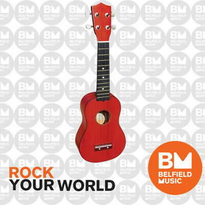 AU32.99 • Buy Monterey MU-175RD Soprano Ukulele Red Finish Uke Kids Guitar MU-175 - BNIB - BM