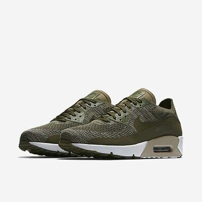 premium selection ff4ef cc0d6 Nike Mens Air Max 90 Ultra 2.0 Flyknit Olive Trainers 875943-200 UK 8 ~