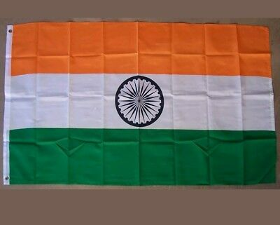 $10.50 • Buy 3x5 India Flag Indian Banner Country Pennant