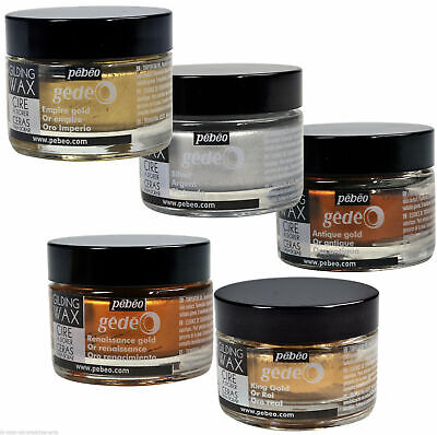 Pebeo Gedeo Gilding Wax - 30ml Jar - 6 DIFFERENT COLOURS - Art Craft Metallic • 11.95£