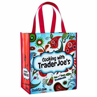 2 Cooking With Trader Joe's Reusable 6 Gal Shopping Grocery Tote Bags • 9$