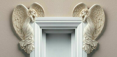 Vintage Angel Wings Door Frame Christmas Decoration Shabby Chic Style Ornament • 10.34£