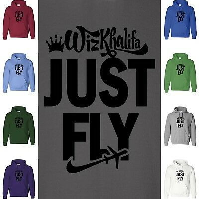 WIZ KHALIFA JUST FLY Hoodie Sweatshirt Taylor Gang MMG Jay-Z NWA Hooded Sweater • 20.94£