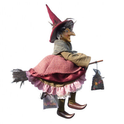 Witches Of Pendle - Althea Witch Flying (Burgundy) 50cm (WOPALTH50BURG) • 31.95£