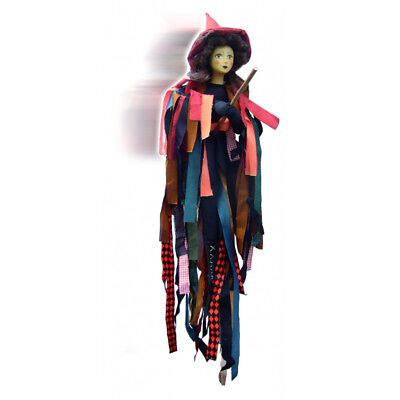 Witches Of Pendle - Crystal Witch Flying (Orange, Black & Green) 65cm • 26.95£