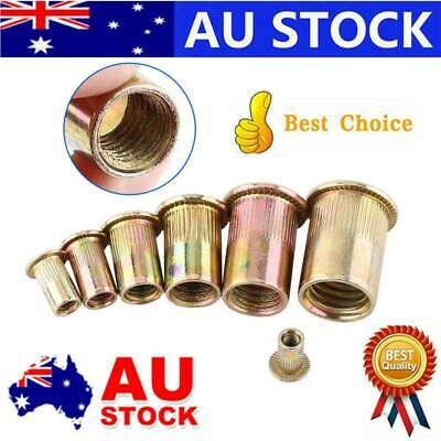 AU12.99 • Buy M6/M8/M10 Flat Head Metric Threaded Blind Rivet Nut Insert Rivnut Nutsert