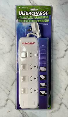 AU19.75 • Buy 4 Way Outlet Surge Protected Power Strip Board Point With Individual Switches