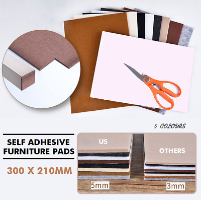 AU6.99 • Buy A4 Large Pieces Felt Furniture Floor Protector Pads Mar Self Adhesive Heavy Duty