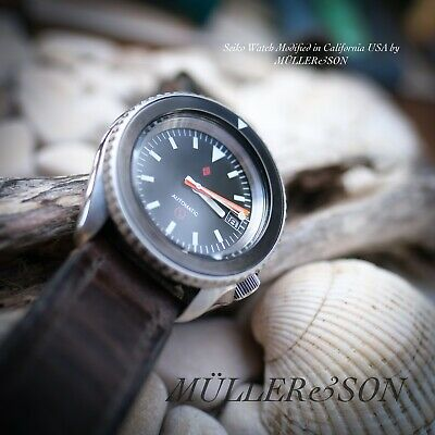 $ CDN918.38 • Buy Müller&Son Seiko SKX Fifty Five Fathoms  H3  Watch Mod + Horween Leather Strap