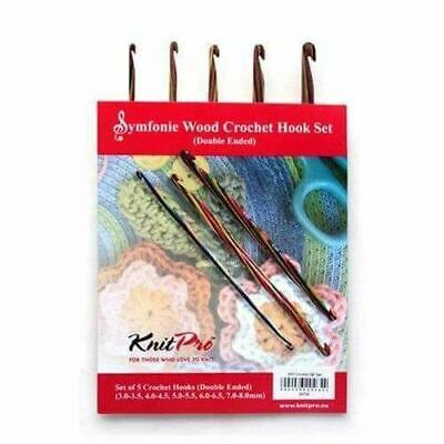 KnitPro Symfonie Wood Double Ended Crochet Hook Set • 26.35£