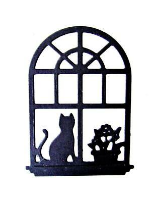 £3.75 • Buy 8 Christmas Scene Window Die Cuts, Cat, Plant, Home, Ch. Any Colour/Card