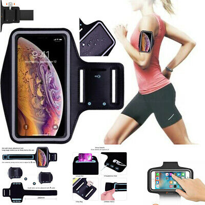 Sports Running Jogging Gym Armband Strap Case Holder Bag Fit For Galaxy Phones • 3.45£