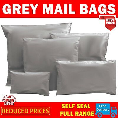 Strong Grey Mailing & Packaging Plastic Bags Extra Large 14' X 21' FREE POSTAGE • 3.49£