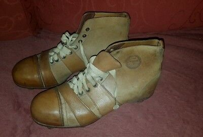 £195 • Buy Antique Early 20th Century 'The Scrum' Rugby Boots With Leather Studs - Unused!