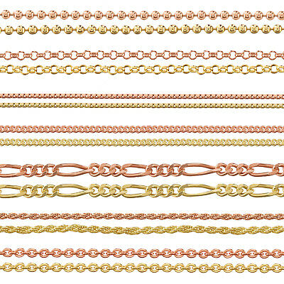 9ct Gold Plated 925 Sterling Silver Ball Belcher Curb Trace Chain Many Lengths  • 8.49£