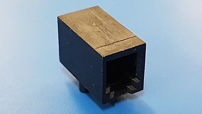 £2 • Buy Modular Jack 4P4C Right Angle Unshielded PCB Mount To Fit RJ11 Plug X 10 NEW