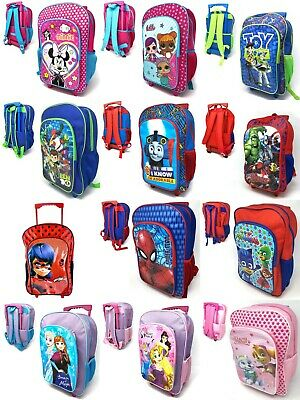 New Children's Character Deluxe Wheeled Trolley Suitcase-Back Pack, Travel Bag • 15.99£