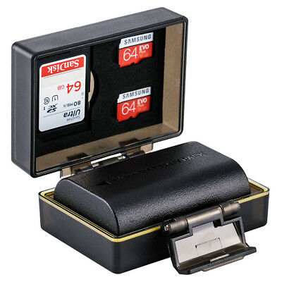 Protection Case For Canon LP-E6 LP-E6N Battery And Memory Card 1x SD 2x Micro SD • 12.08£