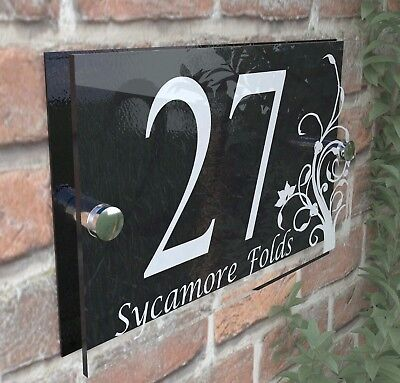 Decorative House Signs Plaques Door Numbers 1 - 999 Personalised Name DEC-13W-B • 6.99£