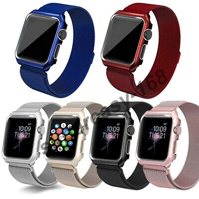 AU23.20 • Buy Milanese Stainless Steel IWatch Band+Cover Case Apple Watch Series 6 5 4 3 2 1SE