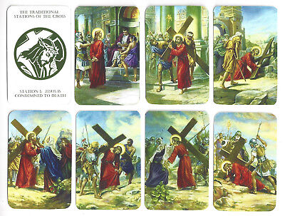 Autumn Savings!!! -- All 14 Stations Of The Cross Prayer Cards -- Full Color! • 1.46£