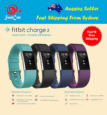 AU199.99 • Buy Fitbit Charge 2 HR Heart Rate Activity Tracker + Large Fitness Wristband Monitor