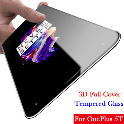 AU1.86 • Buy For Oneplus 5T/ 5 A5000/ 3T 3D Full Cover Tempered Glass Screen Protector Film