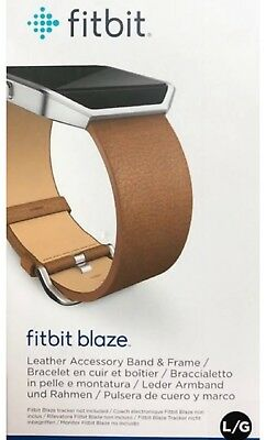 $ CDN44.19 • Buy Fitbit Blaze Leather Accessory Band (Large) - Camel BRAND NEW FREE SHIPPING OEM