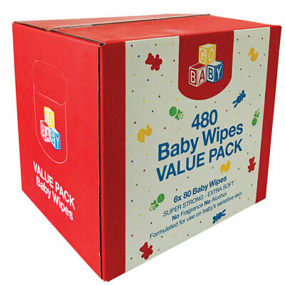 AU12.99 • Buy Go Baby Wipes 6x80 Value Pack
