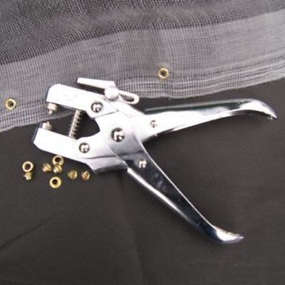 Eyelet Pliers & 100 Eyelets Heavy Duty With Margin Guide Chrome • 9.99£