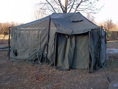 $895 • Buy US MILITARY SURPLUS 18x18 MGPTS TENT HUNTING CAMPING  ARMY TRUCK TRAILER