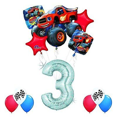 Blaze And The Monster Machines 3rd Birthday Balloon Decoration Kit By Anagram • 17.66£