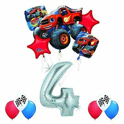 Anagram Blaze And The Monster Machines 4th Birthday Balloon Decoration Kit • 17.66£