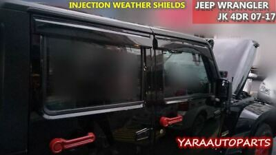 AU68 • Buy QUALITY Weather Shields Weathershields Window Visors JEEP Wrangler JK 4DR 07-18