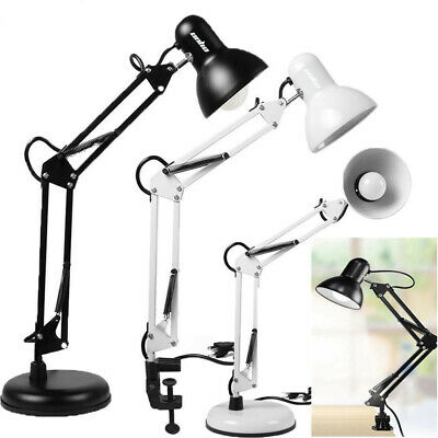 AU24.97 • Buy Super Bright Desk Lamp Swing Arm, With LED Bulb & Clamp Metal Home Office Light