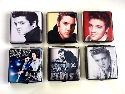 ELVIS PRESLEY KING SIZE Cigarette Case 6 Designs Holds 20 King Size Cigarettes • 4.99£