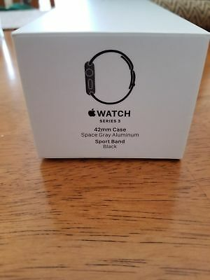 $ CDN592.88 • Buy NEW Apple Watch Series 3 42mm Space Gray Aluminium Case With Black Sport Band