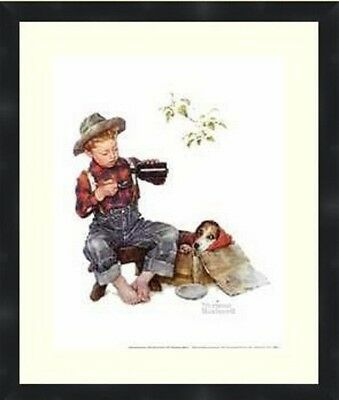 $ CDN61.34 • Buy Norman Rockwell Mysterious Malady Vintage Prints Matted And Framed Size16X20