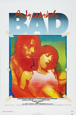 $99.99 • Buy Andy Warhol's Bad (1977) Original Movie Poster  -  Folded