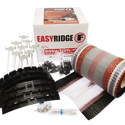 Easy Ridge Universal Dry Fix Roof Kit Mortar Free Concrete Clay Tile System • 65.99£