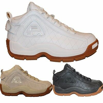 AU105.30 • Buy Mens FILA 96 QUILTED Grant Hill Retro Basketball Shoes Sneakers White Black Gum