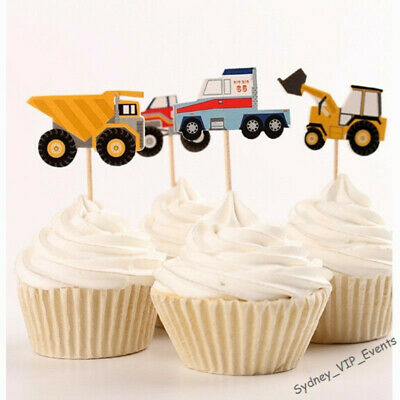 AU4.65 • Buy Construction Party Cake Toppers Dump Truck Tractor Boys Birthday Party Cupcake