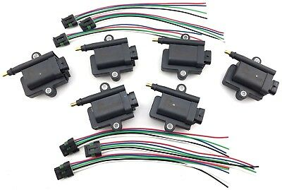 $289.95 • Buy 6 Ignition Coils For Marine W/ Harness 3008M0077471 MERCURY OPTIMAX 339879984T00