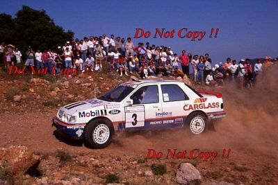 Francois Delecour Ford Sierra RS Cosworth 4x4 Acropolis Rally 1992 Photograph 1 • 4£