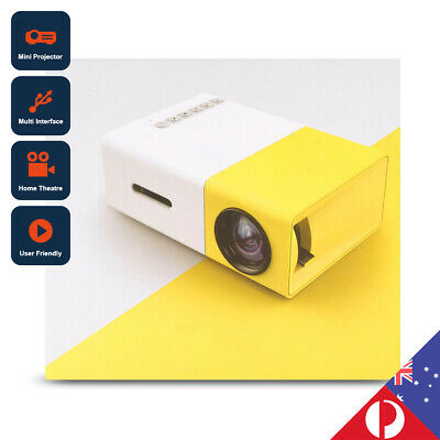AU89.90 • Buy MINI Portable LED Projector 1080P HD Home Cinema Theatre AV HDMI SD USB AU