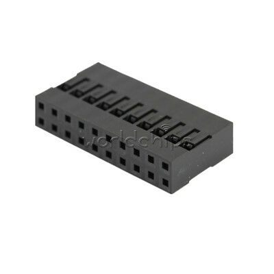 AU3.87 • Buy 50PCS Dupont Connector Housing Female Connector 2.54mm Double Row 2x10Pin 20Pin
